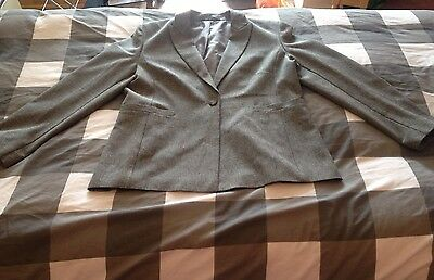 Marks And Spencer's Grey Suit Size 14