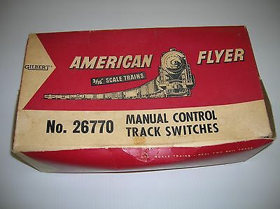 American Flyer S  two Manual LH Switches boxed  lot # 11351