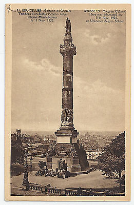 WW1 WWI Congress Column & Tomb of Unknown Soldier Brussels / Bruxelles