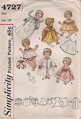 *Simplicity 4727 Vintage 50's Doll Clothes Pattern Betsy Wetsy, Tiny Tears
