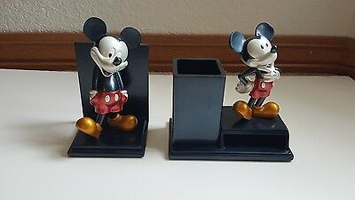 Mickey Mouse Metallic Resin Bookend and Desk Organizer (2 Piece)