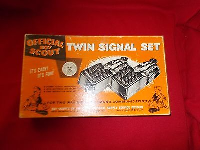 Official Boy Scout Twin Signal Set In Original Box