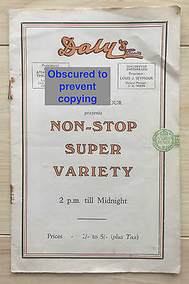 Vintage DALY'S Theatre Programme 1932 Variety Show Leicester Square RARE