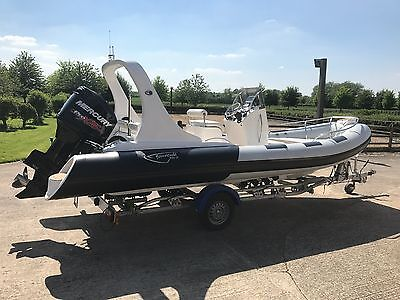 6.2 luxury rib boat with trailer - top specification