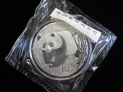 2002 China 1oz. One Ounce SILVER Panda - Original Mint Sealed Plastic - OGP Rare