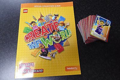 Lego Create the World Album - Sainsburys - plus ALL 140 Cards !!