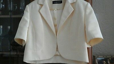 Ladies Jacques Vert short sleeved jacket size 14