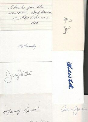(13) Autographed Baseball 3x5 Index Cards A LOT OF STARS! Deceased Players!