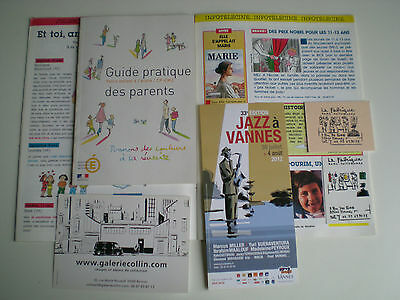 Lot 6 Documents Francois Avril Revues Flyer Cartes