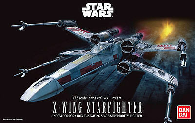 Bandai Star Wars X Wing Starfighter 1/72 Scale Model Kit