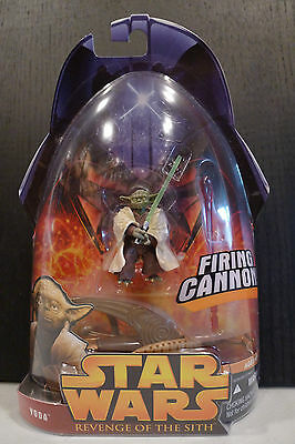 Star Wars - 2005 Revenge Of The Sith Yoda (Firing Cannon) Figure - Sealed!