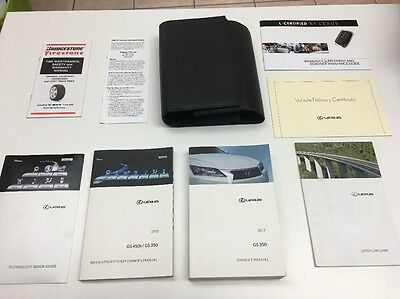 Lexus GS 350 2013 Owners Manual Books/  Navigation/ In Case,  Free Shipping