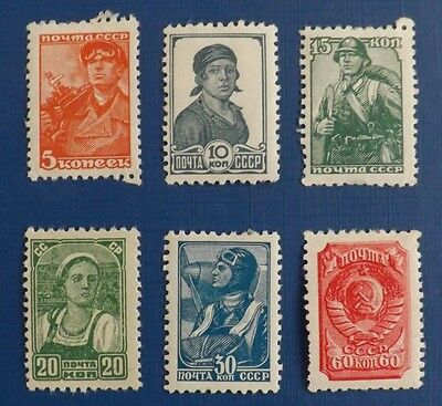Russia 1929-1939 mounted mint stamps up to 60k