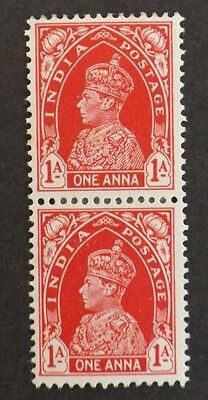 India 1937 King George V1 (Pair Mounted-Mint)