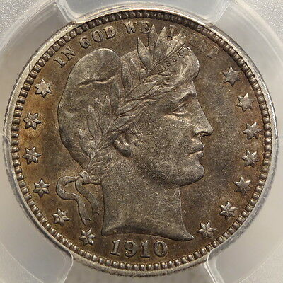 1910-D Barber Quarter, Choice Almost Uncirculated, PCGS Cert, RARE