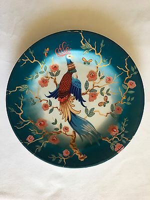Antique? Chinese Colorful Plate with Bird Handwork Fine Porcelain