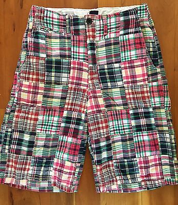 GAP KIDS boys 14 Madras Plaid Patchwork SHORTS