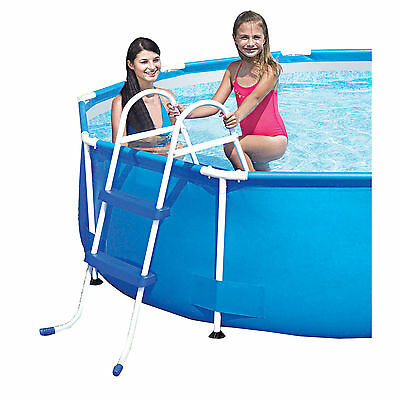 """Bestway Swimming Pool Ladder for pools with a wall height of up to 33"""" #58430"""