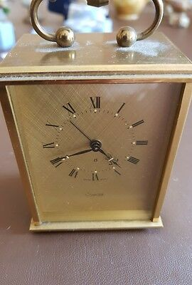 SWIZA Brass Cased 8 Day Carriage Alarm Clock