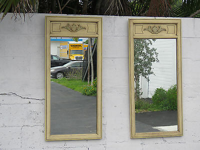 Pair of French Painted Wall Mirrors 8517