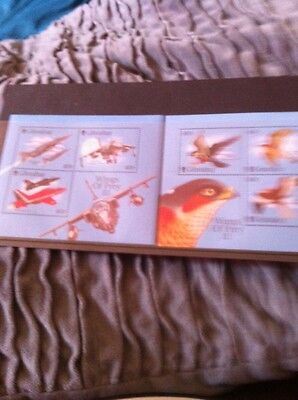 GIBRALTAR -  WINGS OF PREY  111 Mint Stamps