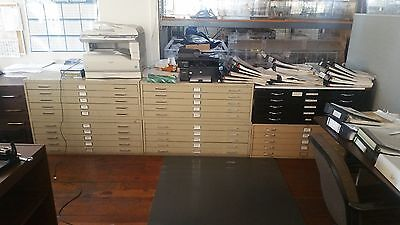 """5-Drawer Flat File Cabinet For 36"""" X 24"""" Sheets"""
