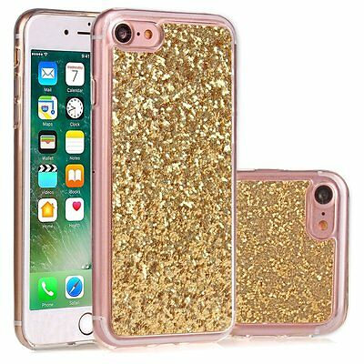 Bling Glitter Ultra-Thin Soft TPU Rubber Protective Case Cover For Apple iPhone7