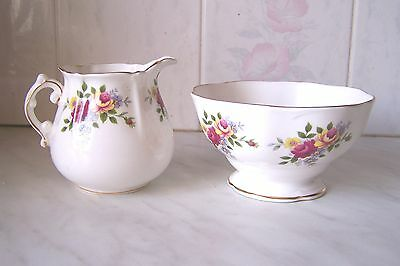 Royal Imperial Fine Bone China Milk Jug And Sugar Bowl