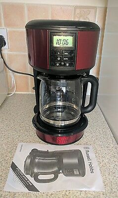 Russell hobbs legacy filter coffee maker metalic red