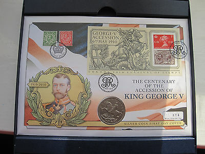 1935 Crown George V Silver coin + cover