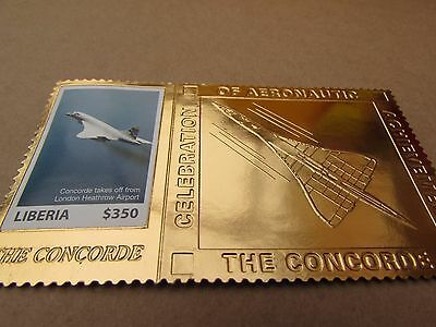 Liberia 2007 MNH Concorde 1v Gold Stamp Aviation Passenger Jet Planes Stamps