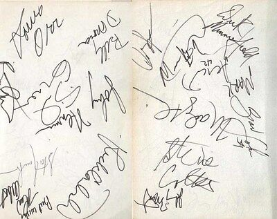 1988 New York Knicks Autographed Pages by 16 w/ Johnny Most & Marv Albert D.93