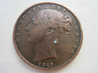 Victoria Farthing Dated 1850