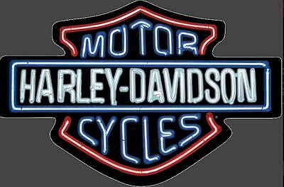 "HARLEY DAVIDSON NEON LIGHTS 19"" X 12 1/8"" EMBOSSED TIN SIGN(New For 2017)"