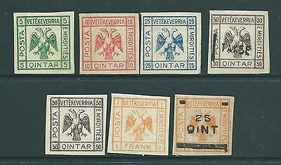 ALBANIA - Vintage stamp collection including overprints