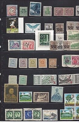 unchecked lot world stamps mint and used
