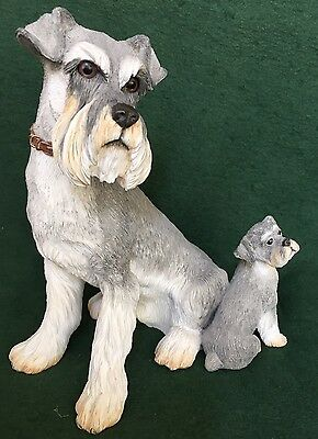 Country Artists - Schnauzer Dog With Puppy