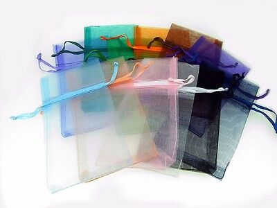 "12 Pcs 3 3/4'' x 7"" Organza Pouch Bags Assorted Colors Pre - Packaged"