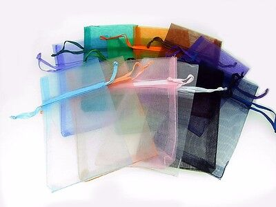 "12 Pcs 3"" X 5 1/2"" Organza Pouch Bags Assorted Colors Pre - Packaged"