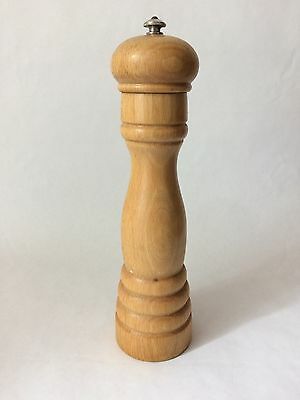 Vintage Peugeot Freres Lion Pepper Mill Antique Maple 10""