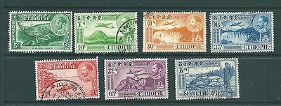 ETHIOPIA - 1947 'views' stamps including airmail - Haile Selassie