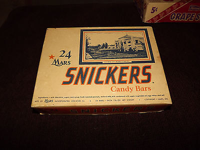 Vintage 1950's Mars Snickers advertising box --Home of Mars Candy