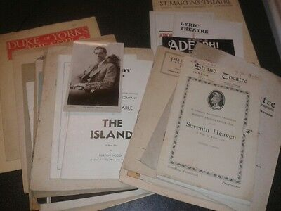 GODFREY TEARLE actor signed photo and early 1900s British Theatre Programmes