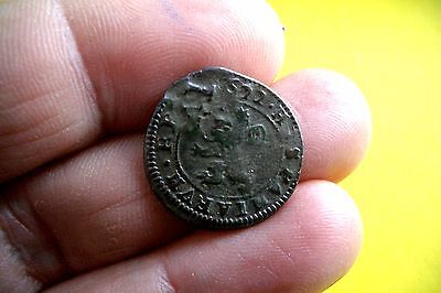 A66* Great 4 Maravedies Philip Iii 1622 Segovia Re-Stamped Vi Spain Pirate Coin
