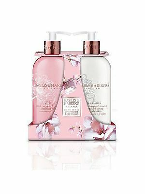 Baylis and Harding Limited Edition Pink Magnolia & Pear Blossom Twin Set