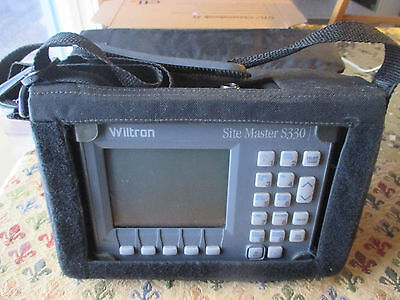 Wiltron Site Master Model S330 Cable and Antenna Analyzer w/ Case. SiteMaster