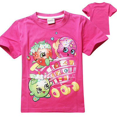 Lovely Rose Kids Girls Top Casual Cartoon Summer Character T-Shirts 4-5 Years