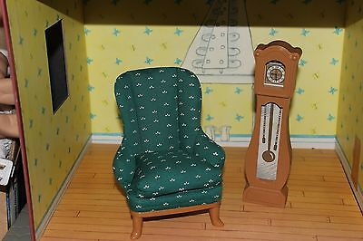 Eden Madeline Dollhouse House In Paris Green Chair Grandfather Clock