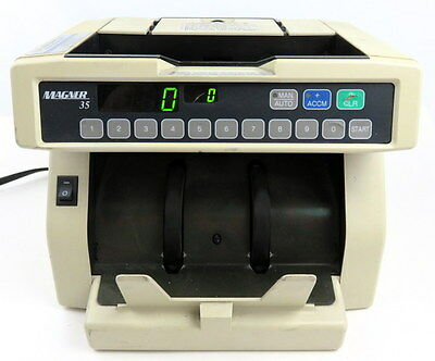 MAGNER 35 DC CURRENCY COUNTER Money Dollar Bill 10-Key Machine TESTED XLNT!! 35D