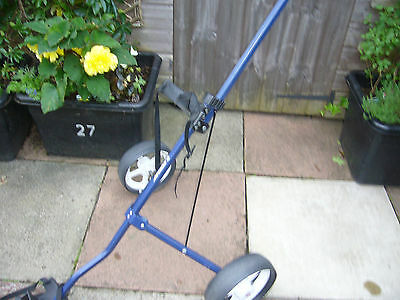 Used Dunlop  Wide Wheeled  Two Wheel  Folding  Golf Trolley